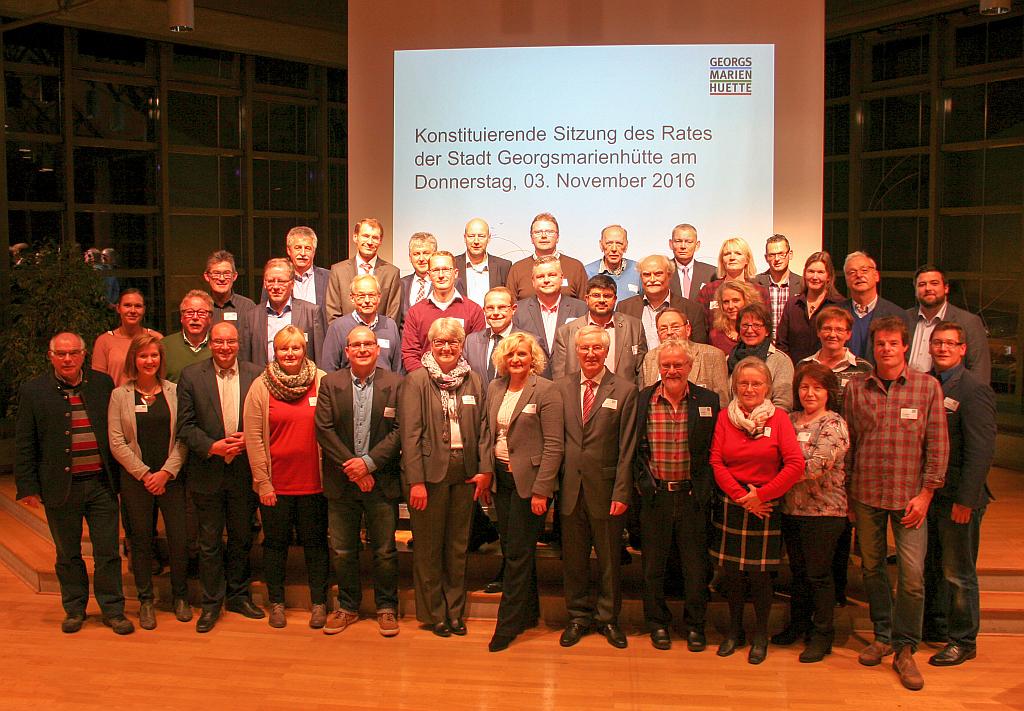 Gruppenfoto Ratsmitglieder 2016-2021